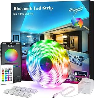 Led Strip Lights, 16.4ft Bluetooth APP Controller RGB LED...