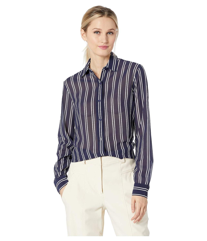 [マイケルコース] レディース シャツ Mega Railroad Stripe Shirt [並行輸入品]