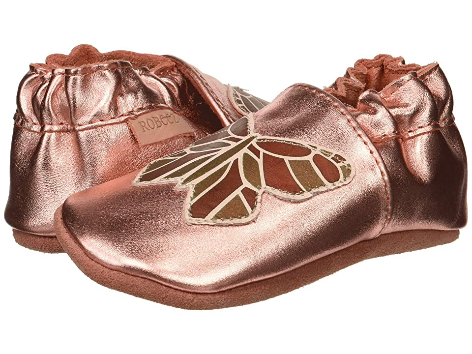 Robeez Ava Rose Soft Sole (Infant/Toddler) (Rose Gold) Girl