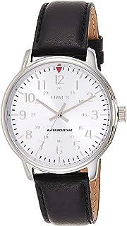 Timex Men's Quartz Watch, Analog Display and Leather Strap TW2R85300
