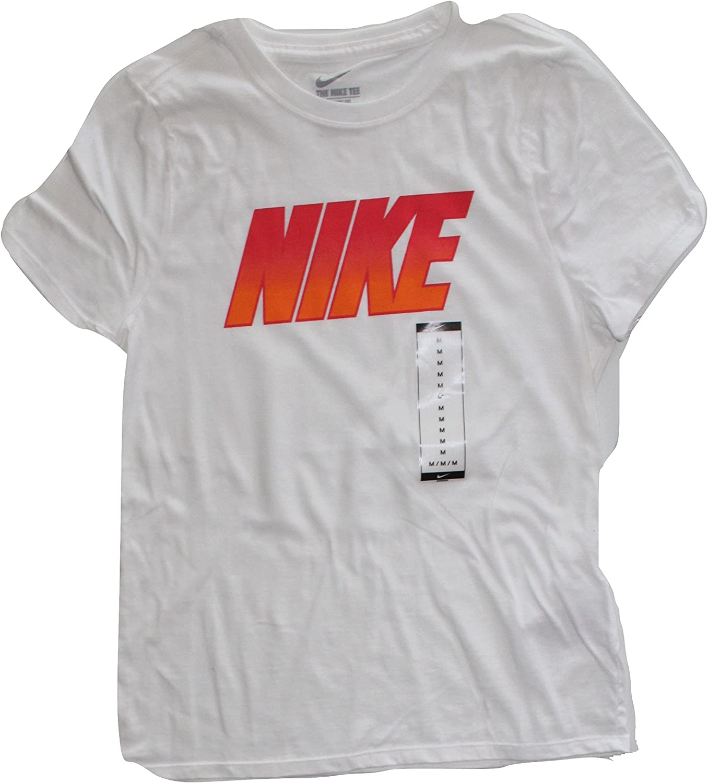 Nike Girls Short Sleeve Dry Tee (Medium 10-12) White