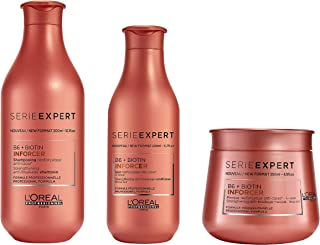 LOREAL INFORCER SHAMPOO, CONDITIONER AND MASK AND MASK 300ML