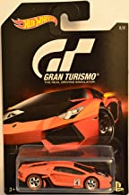 Hot Wheels Compatible Lamborghini Aventador LP 700-4 Red Gran Turismo Series Custom-Made Collectors Edition 1:64 Scale Collectible Die Cast Model Car w/Real Rider Rubber Wheels
