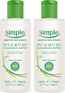 Simple Cleansing Water, Micellar, 6.7 oz, Twin Pack