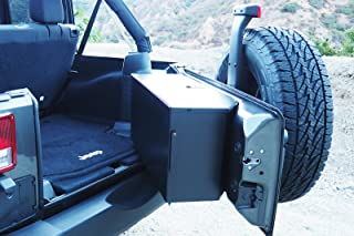 Carrichs Tailgate Storage Box for 2007-2017 Jeep Wrangler JK without Rear Side Sub Woofer