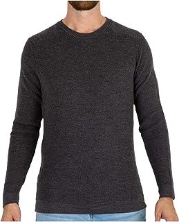 MERIWOOL Mens Merino Wool Knit Sweater Crewneck Pullover Top