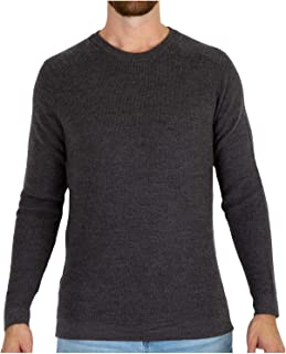 MERIWOOL Mens Knit Sweater - Merino Wool Sweater Men Long Sleeve Shirt