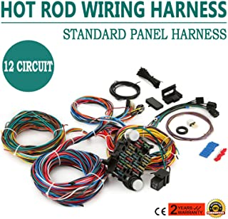 Mophorn Wiring Harness Kit 12 Circuit Hot Rod Universal Wiring Harness Muscle Car Street Rod XL Wires