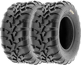 Pair of 2 SunF 25x11-10 AT-XC ATV/UTV Off-Road Tires, 6PR, Directional Knobby Tread | A010