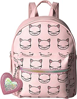 Kitty Kat Printed Backpack