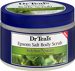 Dr Teals Exfoliate and Renew with Eucalyptus and Spearmint Body Scrub, 454g