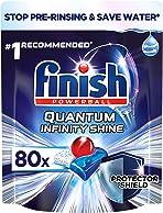Finish Quantum Infinity Shine Dishwasher Tablets, Original, 80 Tablets