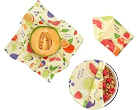 Bee's Wrap Assorted 3 Pack, made in USA, Eco Friendly Reusable Beeswax Food Wraps, Sustainable, Zero Waste, Plastic Free A...