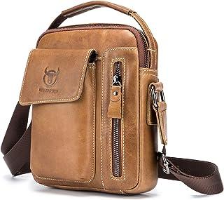 Shoulder Pack, Andoer Men Vintage Genuine Leather Shoulder Bag Outdoor Sports Travel Crossbody Bag Handbag Casual Bag Pack