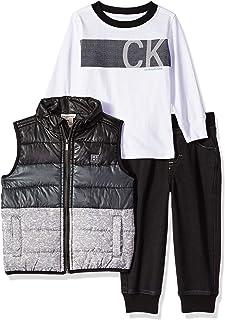 103f59d0767a Calvin Klein Baby Boys 3 Pieces Vest Set-Denim Jogger