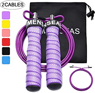 IMENSEAS Speed Jump Rope Workout Steel Wire Adjustable Jumping Ropes for Men & Women Great for Double Unders, Crossfit Training, Boxing, and MMA