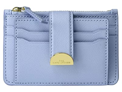 Marc Jacobs Half Moon Multi Card Case (Blue Mist) Handbags