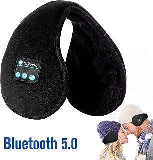 Bluetooth Earmuffs Headphones Ear Warmers, Voerou Bluetooth 5.0 Wireless Earmuffs Headsets Foldable Unisex Fleece Ear Warmer with Microphone for Winter Outdoor Men Women & Kids