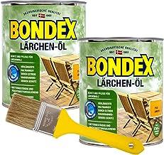 Bondex Lärchenöl Holzöl 1,5L Lärchen Öl Hartholzöl Terrassenöl inkl.Pinsel