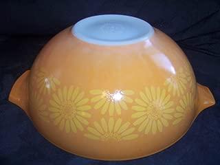 Vintage 1960's Pyrex Daisy Sunflower Cinderella 4 Quart Orange-Yellow Mixing Batter Nesting Bowl #444