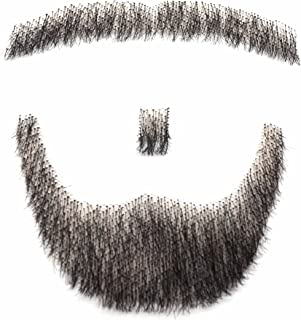MAYMII 100% Human Hair Fake Men's Man Beard Makeup Mustache Perfect for Costume And Party