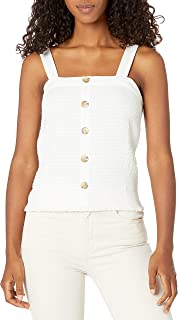 A. Byer womens Button Front Smocked Top (Junior's) Blouse