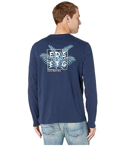 Vineyard Vines Long Sleeve Edsftg Palms Box T-Shirt (Blue Blaze) Men