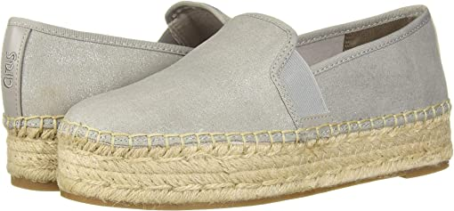 Fog Grey New Shimmer Suede