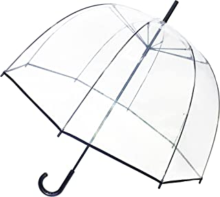 Stick Clear Umbrella - Windproof - Birdcage Dome See Through