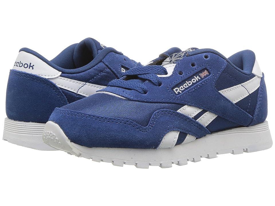 Reebok Kids Classic Nylon (Little Kid) (Bunker Blue/White) Boys Shoes