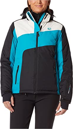 Ultrasport Women's Ski Jacket Kitzbühel with Ultraflow 10.000  Ladies Outdoor Jacket with Removable Hood, Snow Guard and Storage Pockets  All Around Predective Snow Jacket for Women