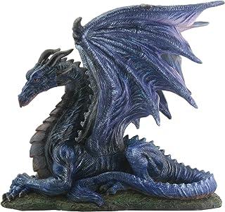 Midnight Dragon Figurine Display