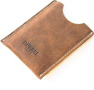 Handmade Card Case Wallet, Leather Money Holder & Organizer Thin Front Pocket Wallet Brown (DBL08)