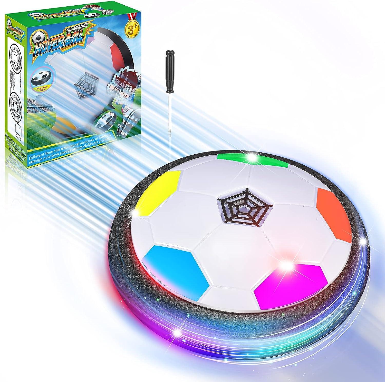 DEVRNEZ Balon Futbol Flotante con Luces LED, Juguetes de Interior & Deportes——Regalos para Niños & Niñas