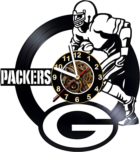 Green Bay Packers Handmade Vinyl Records Wall Clock Original Present For Fans Art Room Decor Handmade Decoration Party Supplies Theme Birthday Gift Vintage And Modern Style