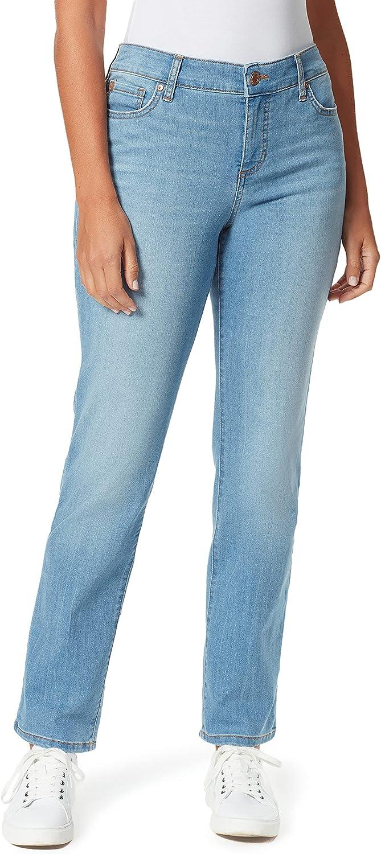 Bandolino Women's Mandie Signature Fit High Rise Straight Jean