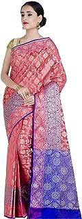 Women's Cotton Silk Blend Indian Ethnic Banarasi Saree with Unstitched Blousepiece(1147)