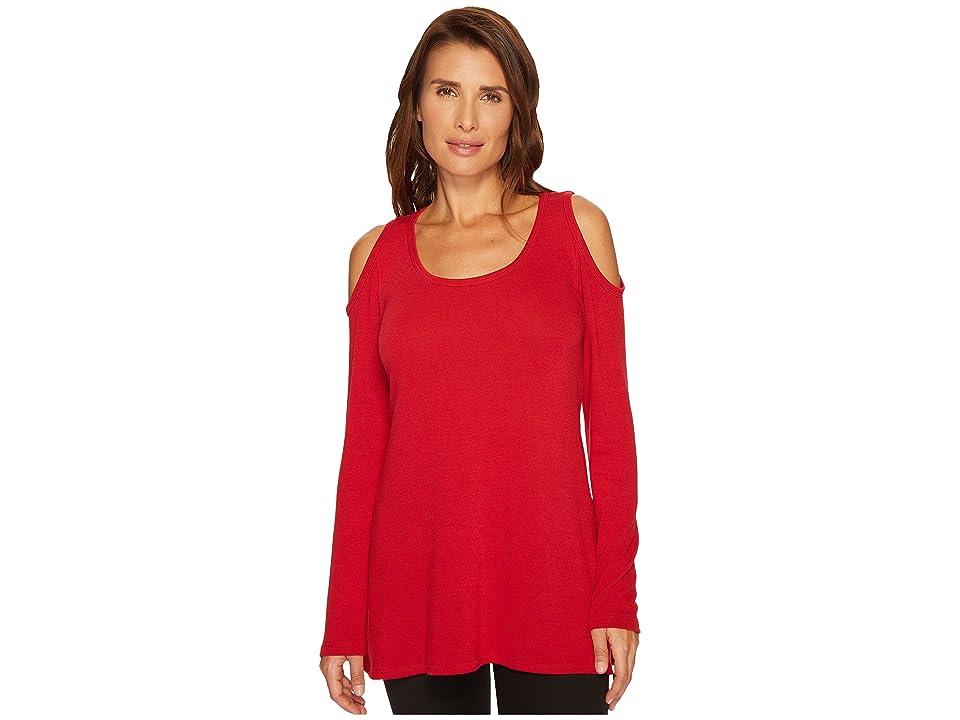 Karen Kane Cold Shoulder Hi Lo Sweater (Red) Women