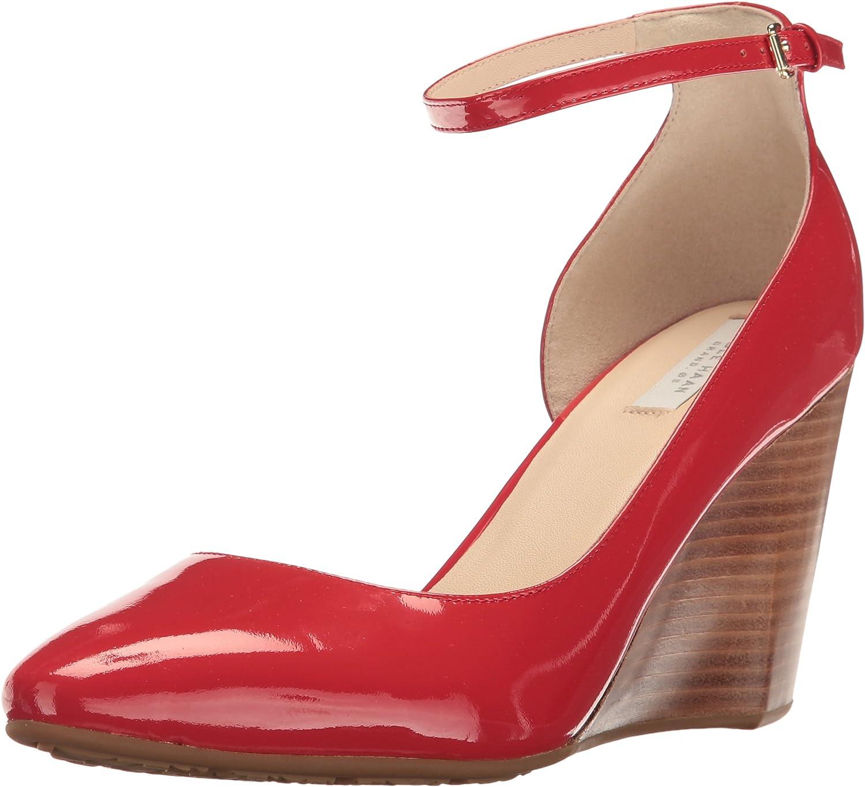 Cole Haan Womens Sadie Ankle Strap Wedge 85mm Platform