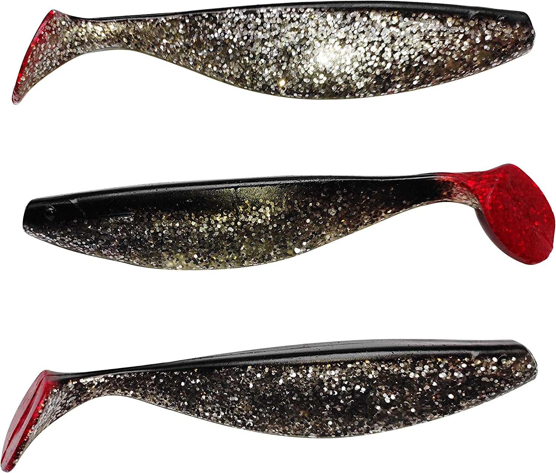 SANDAFishing ShadXperts 3X Xtra-Soft Rubber Fish Set 6 Inches for Pike Zander Catfish Huchen Predatory Fish Rubber Bait Fishing Accessories Fishing Set Lures Fishing Accessories