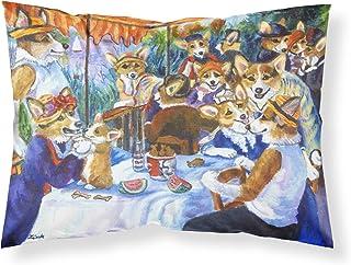 Caroline's Treasures 7321PILLOWCASE Corgi Boating Party Fabric Standard Pillowcase, Large, Multicolor