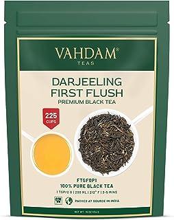 VAHDAM, First Flush Darjeeling Tea - 200+ Cups/ 16oz   Loose Leaf Black Tea - Flowery, Aromatic & Delicious   Picked, Pack...