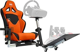 Openwheeler GEN2 Racing Wheel Stand Cockpit Orange on Black   Fits All Logitech G29   G920   All Thrustmaster   All Fanatec Wheels   Compatible with Xbox One, Playstation, PC Platforms