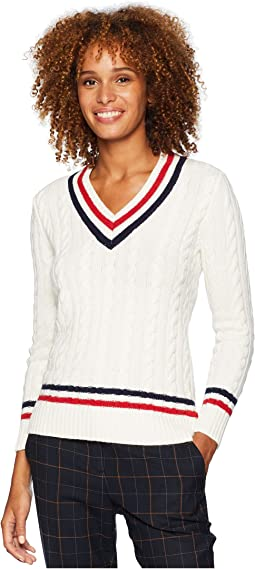 Cable-Knit Cricket Sweater