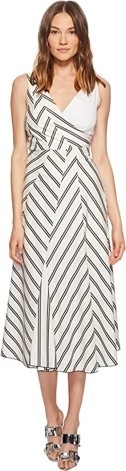Chevron Poplin Dress