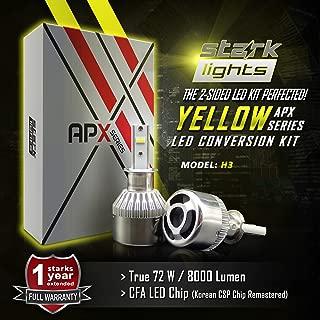 Stark APX 72W 8000LM LED Light 3000K Yellow High Power Kit - Fog Light Bulbs - H3