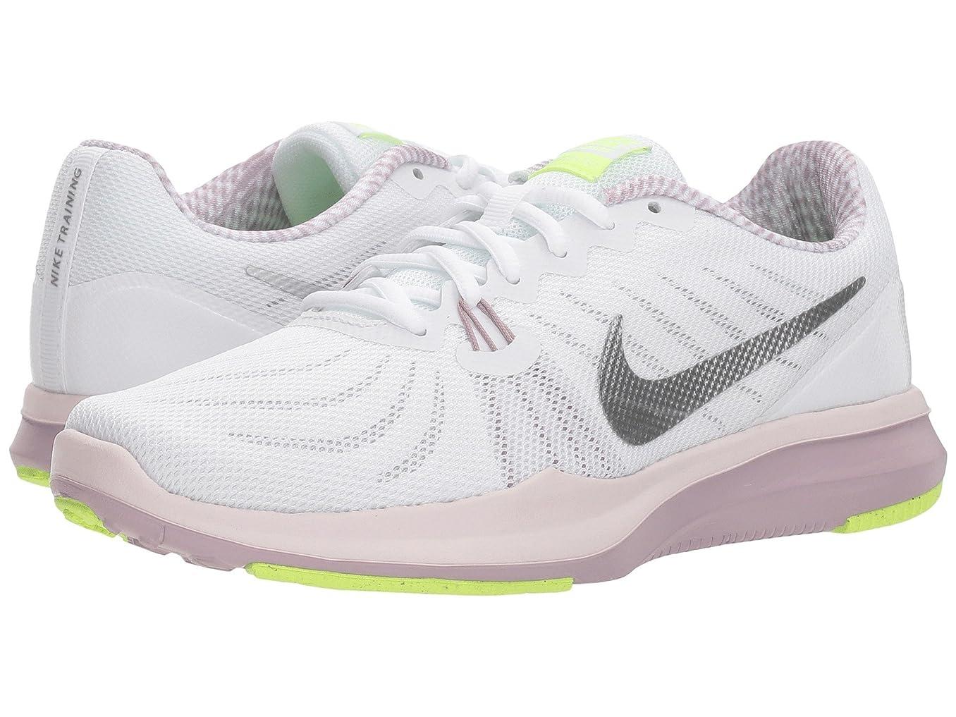 涙測定可能復讐(ナイキ) NIKE レディースランニングシューズ?スニーカー?靴 In-Season 7 White/Metallic Silver/Elemental Rose 8.5 (25.5cm) B - Medium