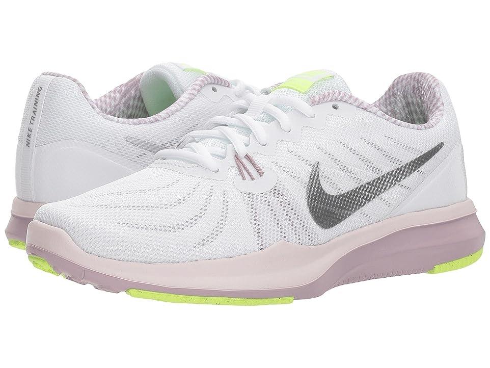 泣き叫ぶ添加司法(ナイキ) NIKE レディースランニングシューズ?スニーカー?靴 In-Season 7 White/Metallic Silver/Elemental Rose 5.5 (22.5cm) B - Medium