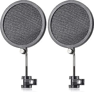 Symphaudio PF-2 Iron Mesh Pop Filter Wind Screen for Broadcasting/Recording/Karaoke Microphones - 3.18