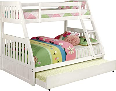 247SHOPATHOME Daner Bunk Bed, Double, White